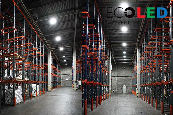 Oświetlenie przemysłowe LED - magazyny wysokiego składowania