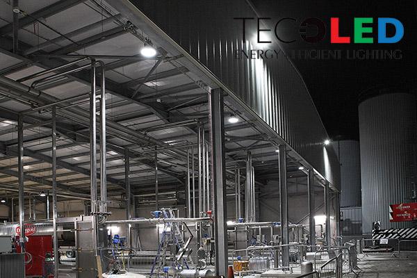 Projekt oświetlenia LED hal - zastosowane lampy przemysłowe LED seria TL-HBCXA
