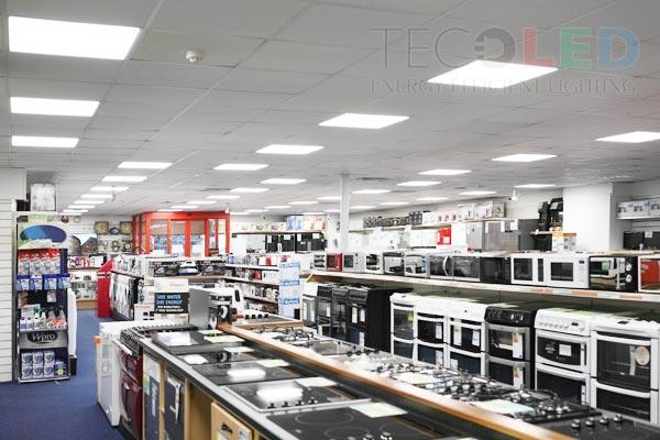 Energooszczędne sufitowe panele led - instalacja Tecoled