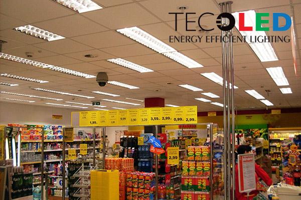 Świetlówki LED T8 G13 - oświetlenie sklepu sieci Społem