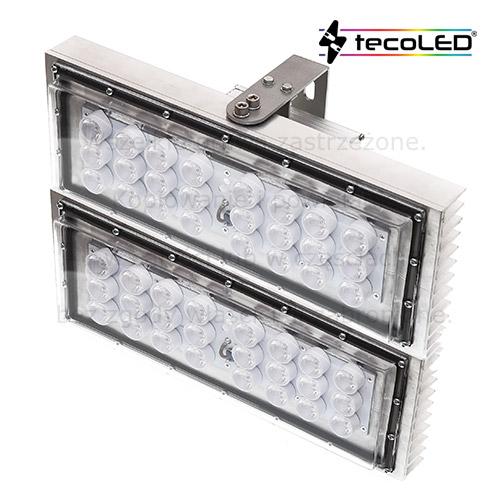 Magazynowe lampy przemysłowe LED do magazynów wysokiego składowania.