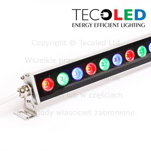 Oświetlacze LED RGB IP65, wall washery LED.